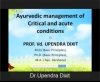 AYUSH CME - Ayurvedic Management in Emergency Conditions